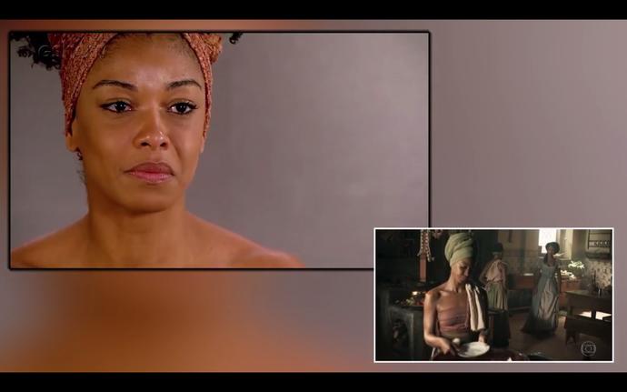 Heloisa Jorge faz teste para elenco de 'Liberdade, Liberdade' (Foto: Gshow)