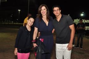 Claudia Raia e os filhos, Enzo e Sophia (Foto: Roberto Teixeira/EGO)