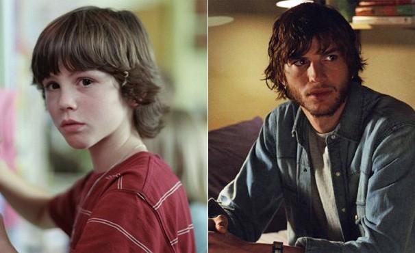 Logan Lerman na versão mais jovem de Ashton Kutcher em 'Efeito Borboleta' (Foto: divulgação / reprodução)