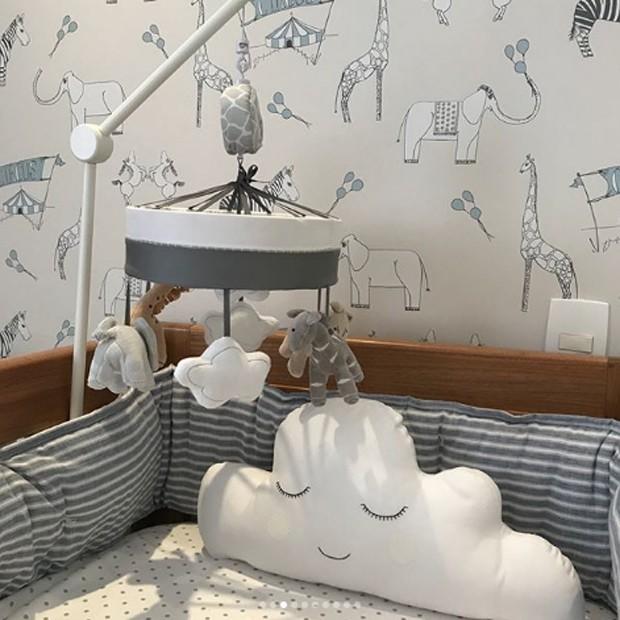 Detalhes da decoração do quarto de Karim, primeiro filho de Ana Beatriz Barros (Foto: Reprodução/Instagram)