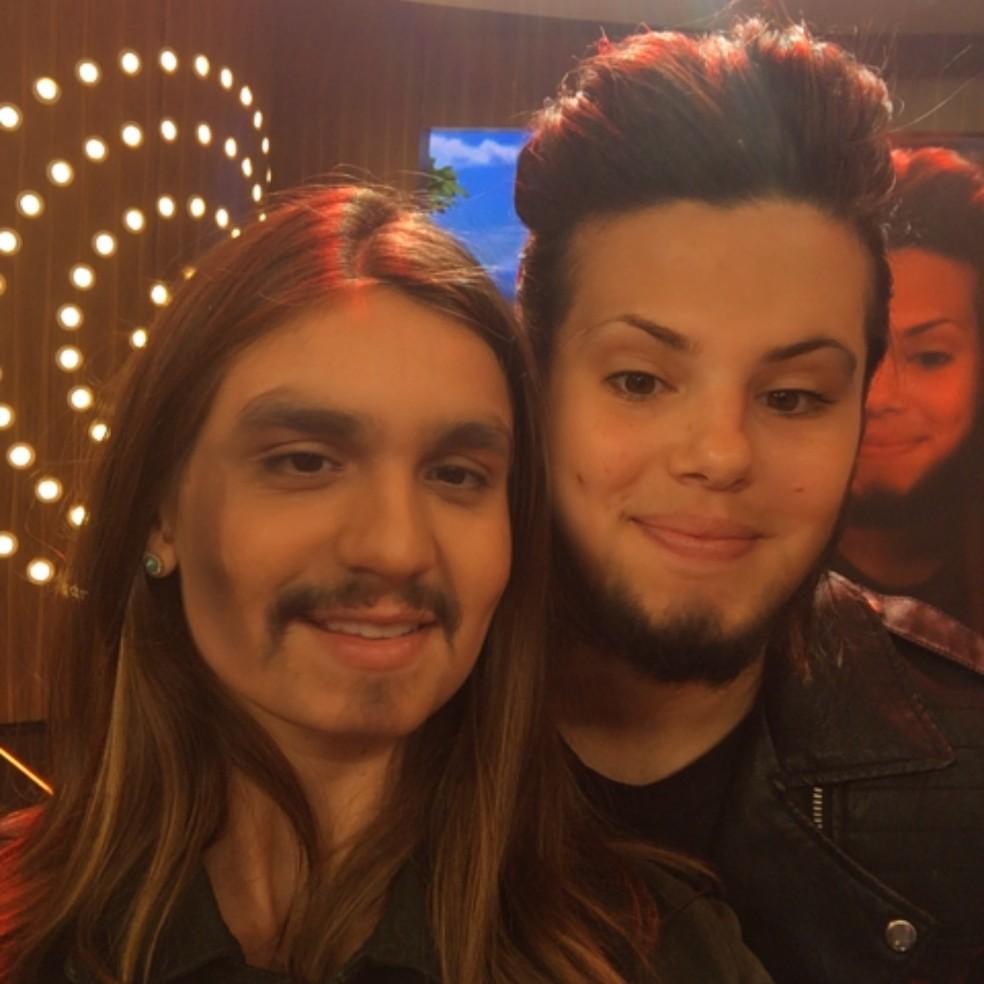 Luan Santana e Camila Queiroz ficaram fofos, não? (Foto: Tv Globo)