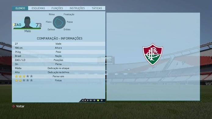 Zagueiro Melo - Fluminense (Foto: Reprodução/Lucas Mendes)