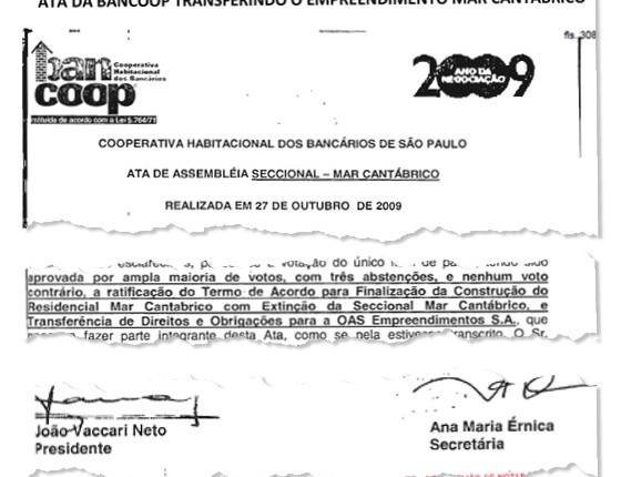 Documento utilizado por João Vaccari Neto para transferir condomínio Solaris para a OAS (Foto: Geraldo Bubniak/Agb/Estadão Conteúdo)