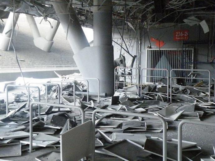 Estádio do Shakhtar bombardeado (Foto: Divulgação/Shakhtar)