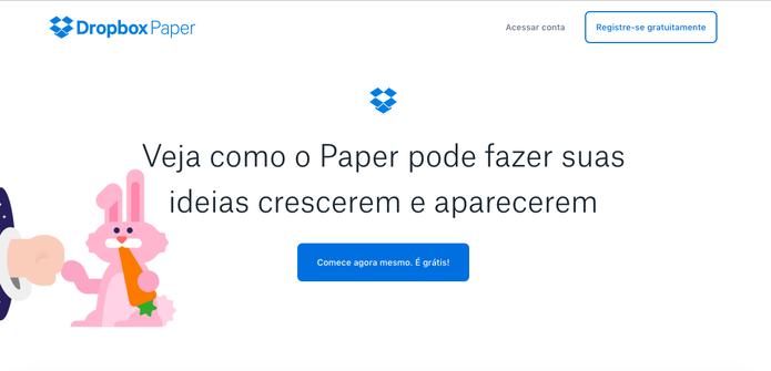 Dropbox Paper é grátis (Foto: Reprodução/Felipe Vinha)