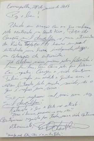 Padre se retrata em carta à Associação de Familiares de Vítimas e Sobreviventes da Tragédia de Santa Maria (Foto: Arquivo Pessoa/Adherbal Ferreira)