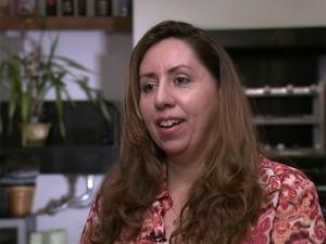 A artista plástica Maria Silvia de Oliveira Franco foi uma das vítimas do ex-médico (Foto: Reprodução/TV Globo)