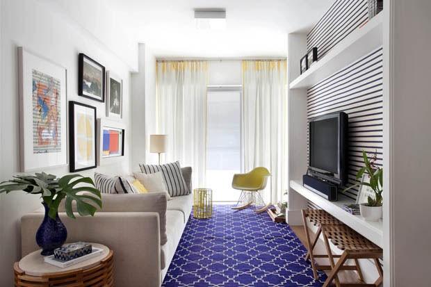Base neutra e toques de cor em apartamento de 75 m² - Casa ...