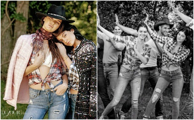 Ensaio de moda irms Jenner (Foto: Reproduo / Instagram)