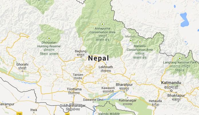 Nepal no Google Maps (Foto: Reprodução/Google Maps)