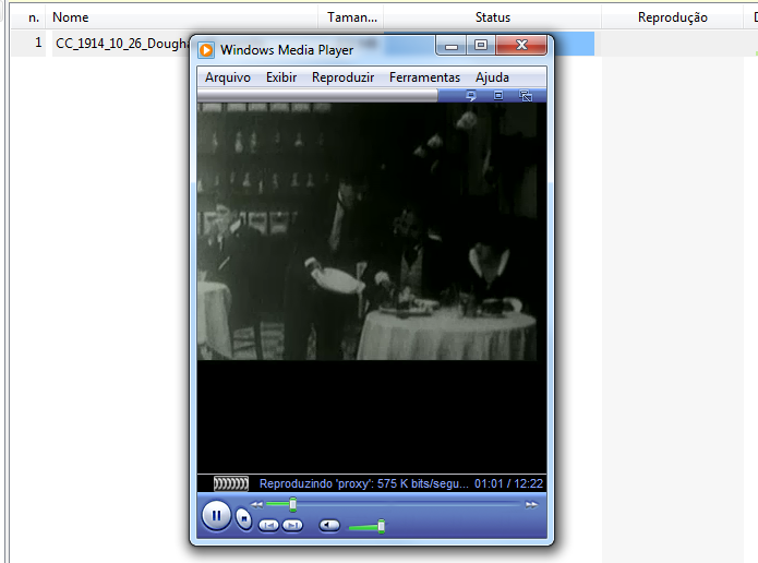 Filme sendo reproduzido externamente no Windows Media Player (Foto: Reprodução/Edivaldo Brito)