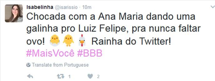 Internet vibra com Luiz Felipe no Mais Você (Foto: Reprodução internet)