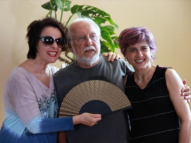 Roberto Menescal, Cris Delanno e Leila Pinheiro  (Foto: Leandro Tapajós/G1 AM)