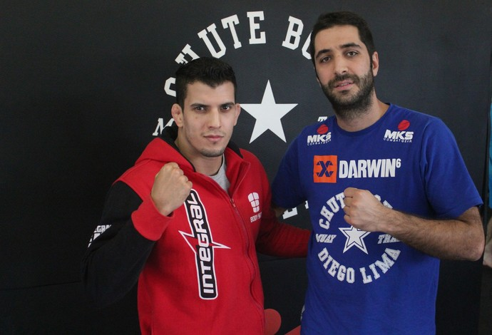 Felipe Sertanejo e Diego Lima UFC MMA (Foto: Marcelo Barone)