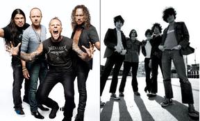 Metallica e The Strokes (Foto: Reprodução)