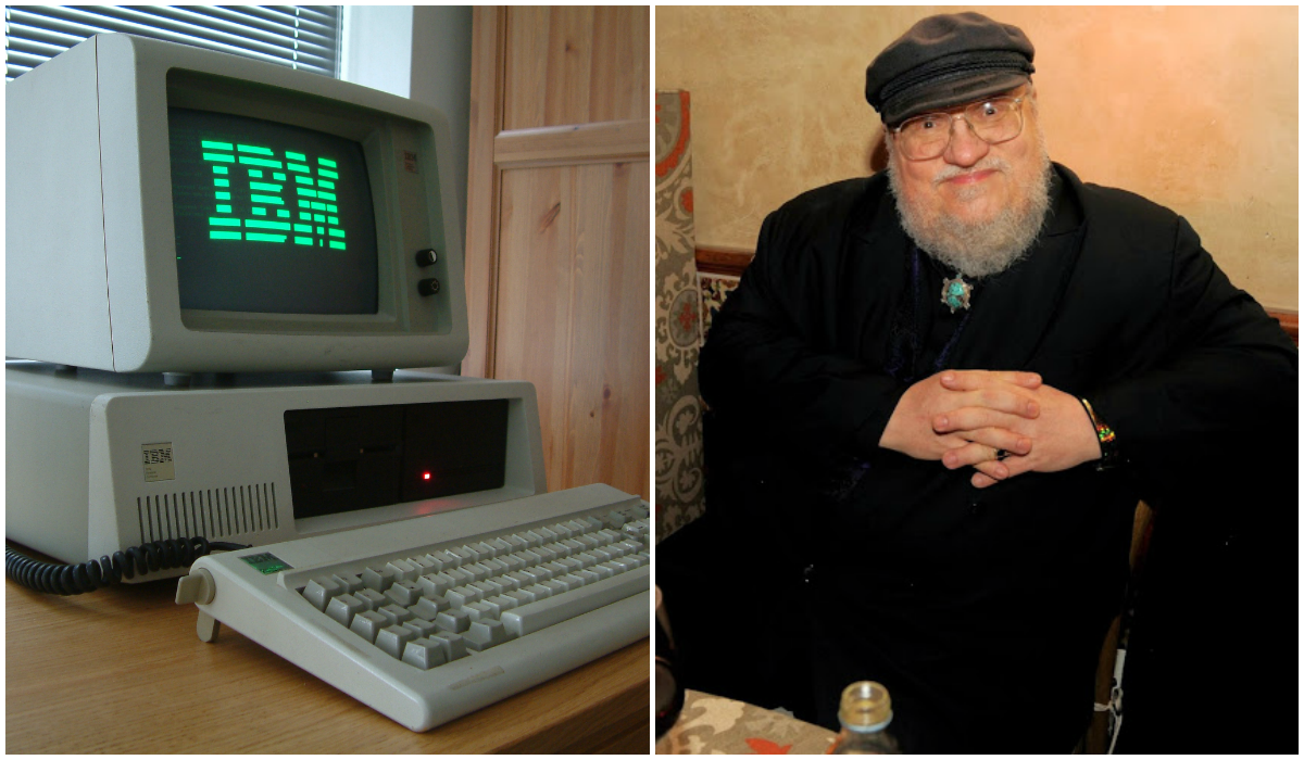 George R. R. Martin escreve Game of Thrones com DOS (Foto: Wikimedia Commons e Getty Images)