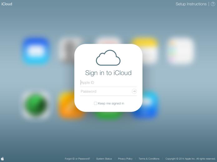 O iCloud é o serviço de compartilhamento na nuvem da Apple (Foto: Reprodução/Marvin Costa)