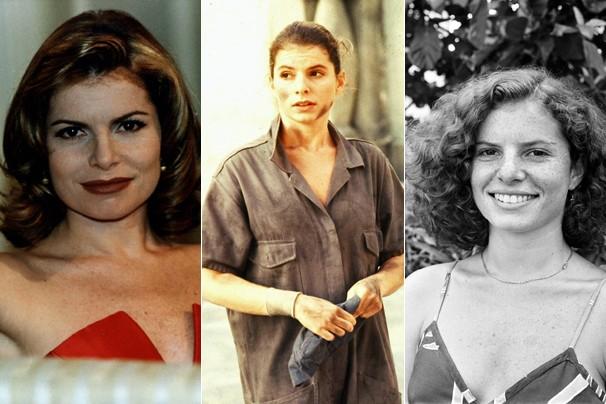Em 1996, em Salsa e Merengue, fez Teodora, em 1982, em Sol de Verão, viveu Clara, em 1986, em Cambalacho, era Ana Machadão (Foto: CEDOC Globo)