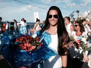 Devota Iemanjá Bahia Salvador (Foto: Maiana Belo/G1 BA)