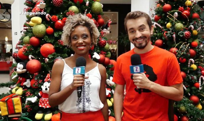 Jaque Santtos e Moacyr Massulo apresentam 'Zapp' de Natal (Foto: Rede Amazônica)
