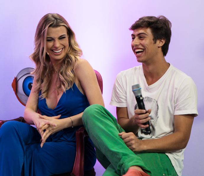 Francisco Vitti curtiu os novos participantes da casa mais vigiada do Brasil (Foto: Camila Camacho/Gshow)