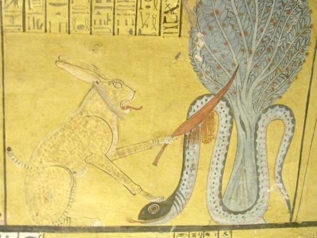 Apep em uma tumba egípcia (Foto: Reprodução)