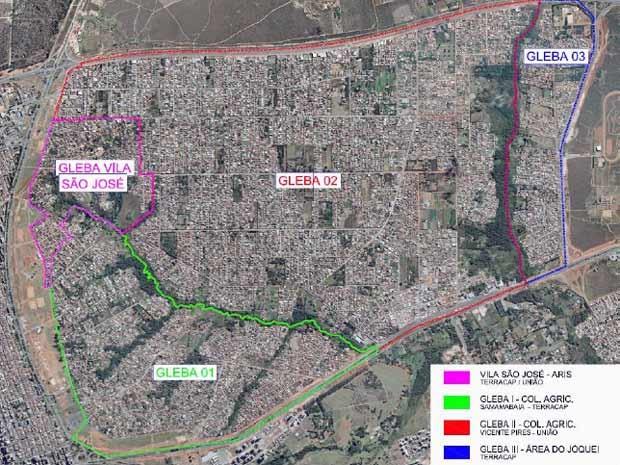 Divisão de Vicente Pires para as obras de infraestrutura (Foto: Vice-governadoria do DF/Reprodução)