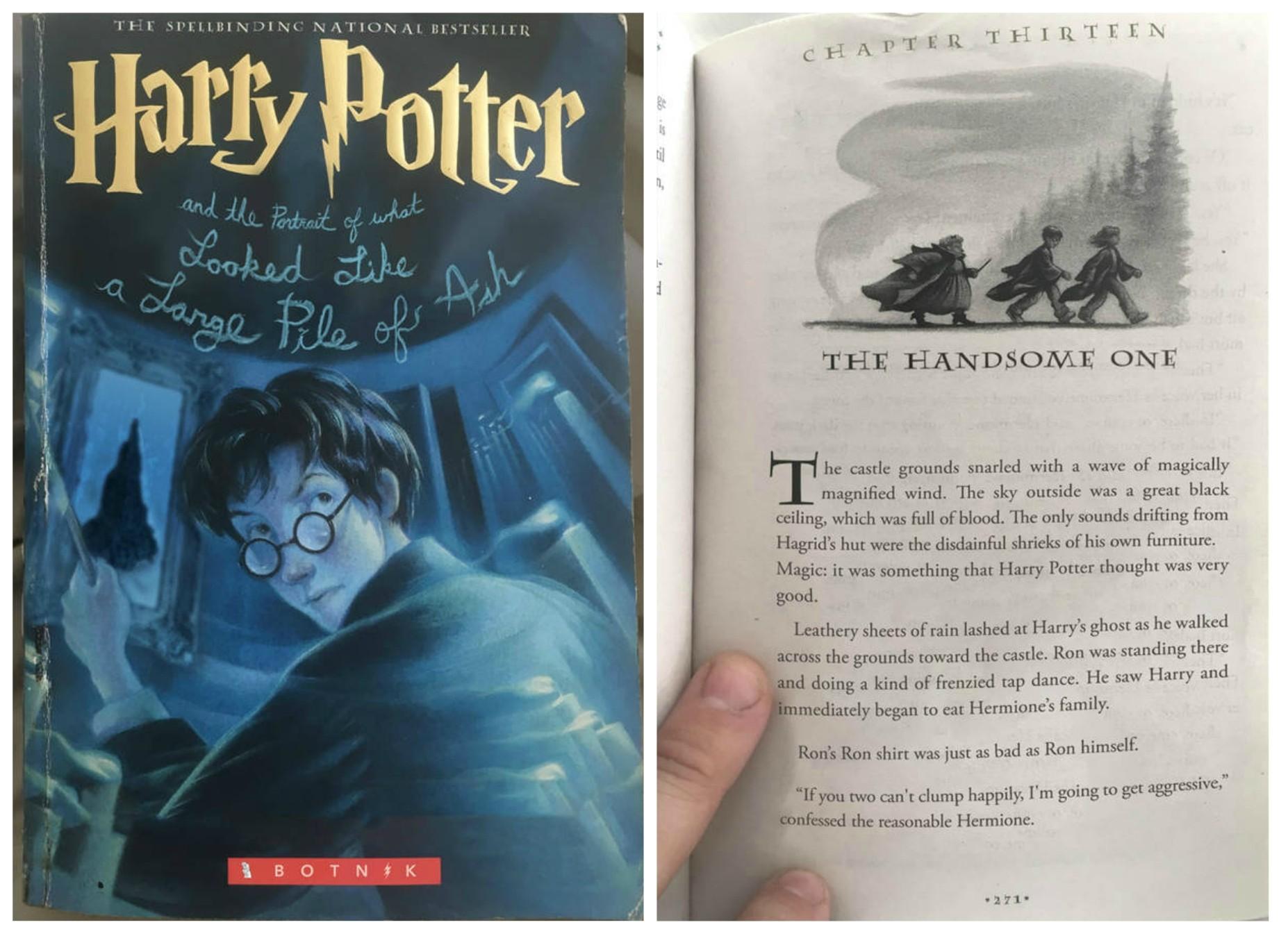 """As primeiras páginas de """"Harry Potter e o retrato que parece uma grande pilha de cinzas"""" foram escritas por um robô. (Foto: Botnik)"""