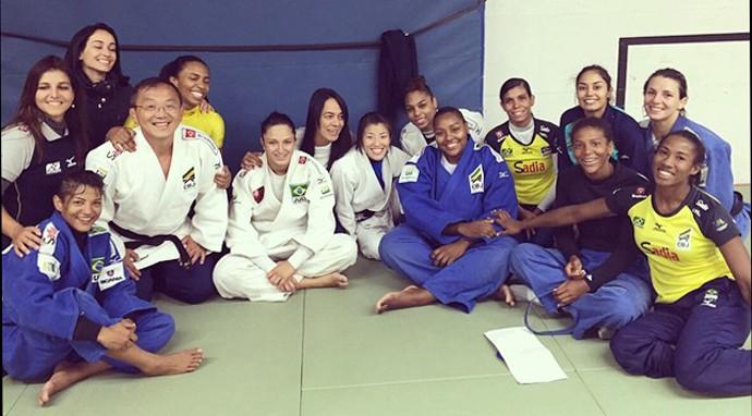 Seleção brasileira de judô (Foto: Reprodução/Facebook)
