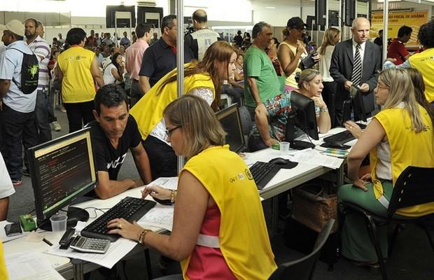 Mutirão negocia dívidas de impostos atrasados, em Goiás (Foto: Divulgação)