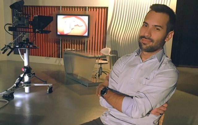 Marco Antonio Mendes agora é repórter na RBS TV de Joinville (Foto: RBS TV/Divulgação)