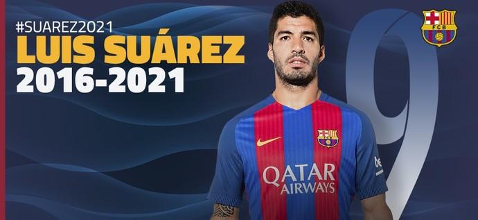 Suárez contrato barcelona (Foto: DIvulgação/Barcelona)