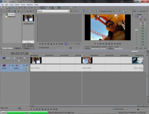 screenshot de Sony Vegas Pro