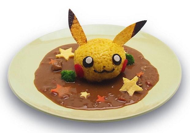 Prato de arroz com curry no Pikachu Cafe (Foto: Divulgação/Pikachu Cafe)