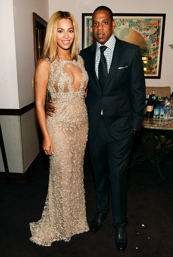 "NEW YORK, NY - FEBRUARY 12:  Beyonce and Jay-Z attend the HBO Documentary Film ""Beyonce: Life Is But A Dream"" New York Premiere at the Ziegfeld Theater on February 12, 2013 in New York City.  (Photo by Larry Busacca/Getty Images for Parkwood Entertainment (Foto: Getty Images for Parkwood Entert)"