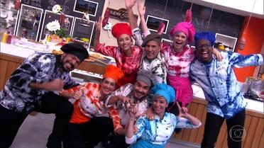 Mumuzinho e colegas do Super Chef Celebridades gravam paródia musical