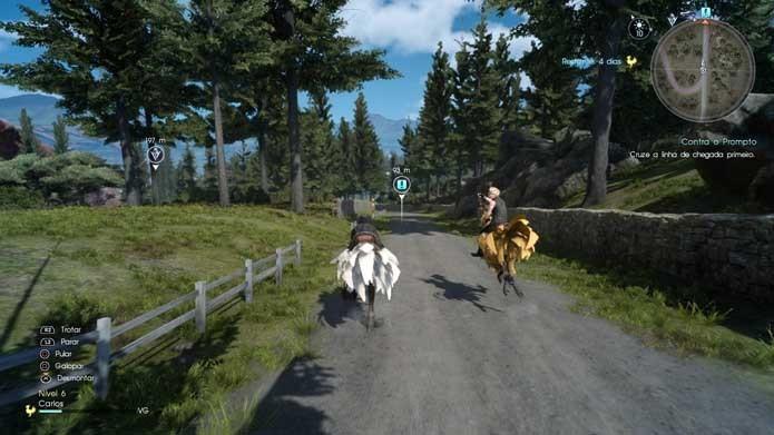 Corra com Chocobos em Final Fantasy XV (Foto: Reprodução/Murilo Molina)