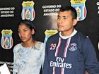 Casal é preso por roubo à joalheria avaliado em R$ 25 mil, em Manaus