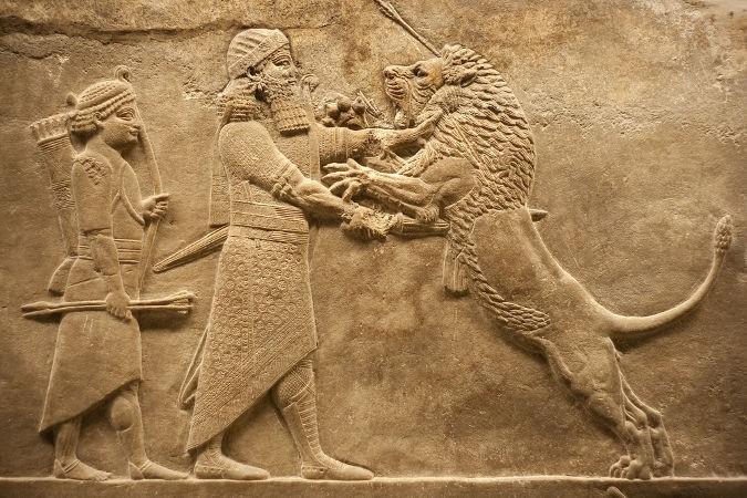 Vestígios históricos do povo assírio, que viveu na Mesopotâmia  (Foto: Reprodução)