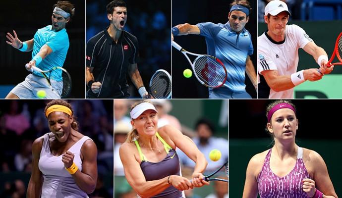 tenis Montagem principais tenistas do mundo (Foto: Getty Images)