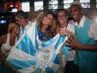 'Japa também tem samba no pé', diz Sabrina Sato na quadra da Vila Isabel