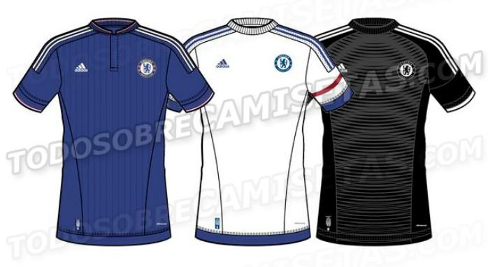 Modelos básicos  site divulga desenho dos uniformes do Chelsea para ... aae81dc7d38d2