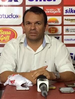 Gerson Junior, treinador do Auto Esporte (Foto: Edgley Lemos / GloboEsporte.com/pb)