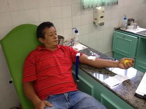 Cleonildo da Silva realizou cadastro para doação de medula óssea (Foto: John Pacheco/G1)