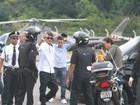 Neymar chega de helicóptero para evento em São Paulo