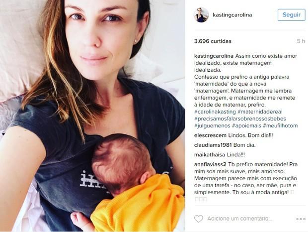 Assim como outras famosas, Carolina se engajou na campanha (Foto: Reprodução/Instagram)