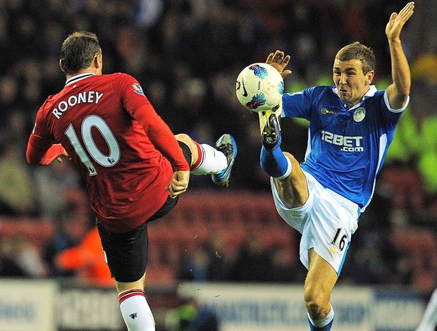 Rooney - Wigan X  Manchester United (Foto: Ag. AFP)