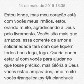 Preta Gil escreve mensagem para Angelica e Luciano Huck (Foto: Instagram / Reprodução)