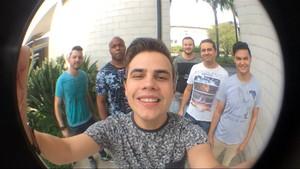 """Kanoa fez selfie nos bastidores do SuperStar: """"Estamos muito felizes"""" (Foto: Arquivo pessoal)"""