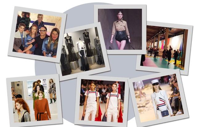 A maratona do time da Vogue na despedida de Paris (Foto: Arte Vogue Online)